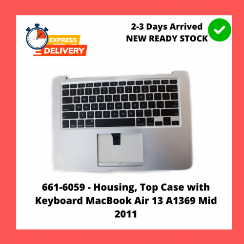 661-6059 - Housing, Top Case with Keyboard MacBook Air 13 A1369 Mid 2011