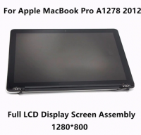 "USED Genuine Full LCD Display Screen Assembly Upper Replacement Parts For Apple MacBook Pro 13"" A1278 2012 MD101 MD102 Mid 2012"