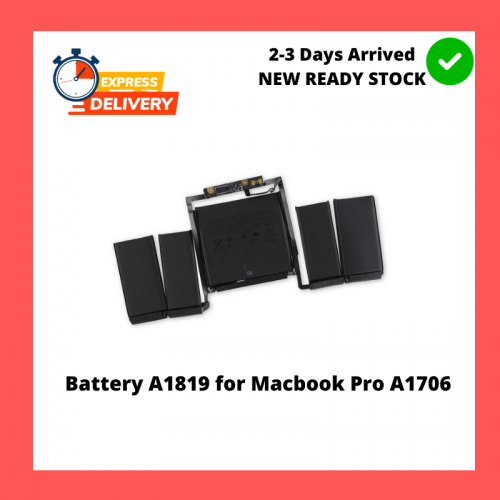 Battery A1819 for Apple MacBook Pro 13' Touch Bar A1706