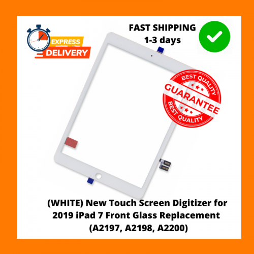 (ORIGINAL) New White Touch Screen Digitizer for 2019 iPad 7 Front Glass Replacement  (A2197, A2198, A2200)